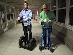 Segway Race Between Nick & Joel, Nick has a slight advantage (Scott Beale) Tags: oreilly foocamp segway oreillymedia joeljohnson nickbilton segwayi2 dicklipton foocamp2009 foo09
