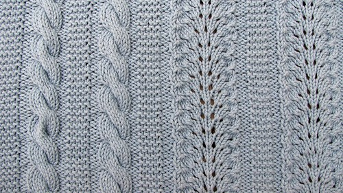 Close up of cables and lace