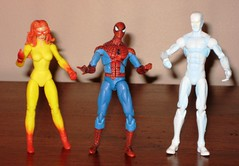 Picture 031 (Action Figure Blues) Tags: spiderman iceman marvel universe firestar