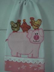 Porquinha Camarada (*Sonhos em Retalhos*) Tags: patchwork cozinha patchcolagem panodeprato