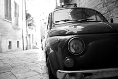 (*Naig*) Tags: auto bw car fiat creative bn 500 macchina prospettiva giovinazzo