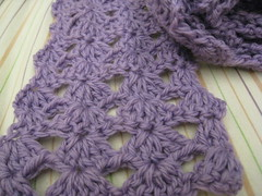lavendar scarf for Miss JoJo.