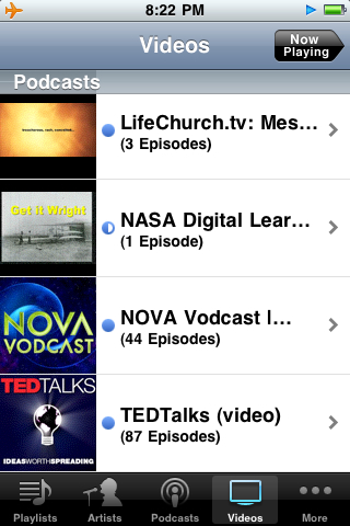 Videos loaded on my iPhone yesterday