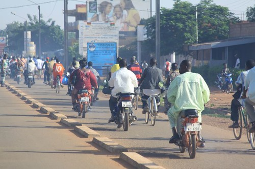 Morning traffic in Ouagadougou...