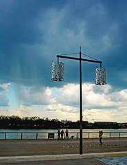 Bordeaux :  Street lights and impending Rainstorm. (Clement Tang **away**) Tags: travel france landscape evening spring bordeaux rainstorm nationalgeographic concordians scenicsnotjustlandscapes