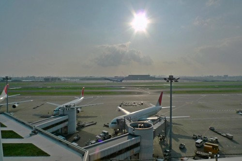 Takeoff at Haneda