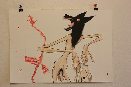 Original Art for sale: Rejected BEASTS Skinwalker