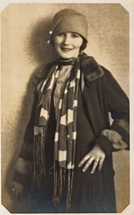 Woman with Scarf and Coat (kevin63) Tags: portrait woman scarf 1930s coat wv lightner bluefield furcollar
