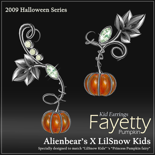 Fayetty Pumpkin kid earrings