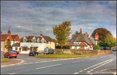 Cuddington (john edward michael1) Tags: trees clouds canon landscape buckinghamshire bluesky aylesbury bucks hdr picnik cottages cuddington thatchroof aylesburyvale chearsley eos450d longcrendon