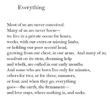 """Everything"" by Sharon Olds"
