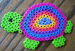 Perler Bead Colorful Turtle (Kid's Birthday Parties) Tags: beads rainbow colorful turtle beading kidscraft perlerbeads beadcraft turtlecraft rainbowturtle perlerbeadturtle