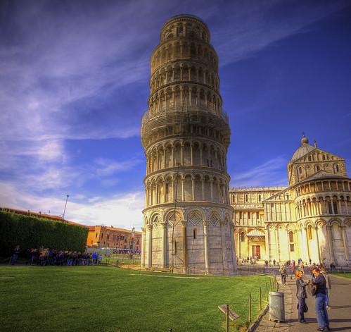 フリー画像| 人工風景| 建造物/建築物| 塔/タワー| ピサの斜塔| 世界遺産/ユネスコ| イタリア風景| HDR画像|    フリー素材|
