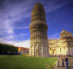 [フリー画像] [人工風景] [建造物/建築物] [塔/タワー] [ピサの斜塔] [世界遺産/ユネスコ] [イタリア風景] [HDR画像]    [フリー素材]