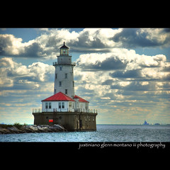 Chicago Harbor Lighthouse (j glenn montano 3) Tags: county usa lighthouse lake chicago harbor pier illinois michigan glenn navy cook hdr montano justiniano superaplus aplusphoto
