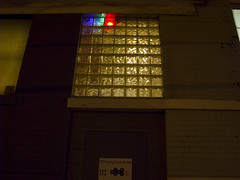 Glass block LED Test - Outside