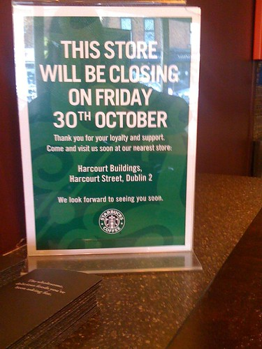 My local Starbucks is closing