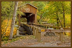 ~ McKee Covered Bridge ~ (~ Western Dreamer ~) Tags: autumn fall coveredbridges southernoregon oregoncoveredbridges applegateriver mckeecoveredbridge