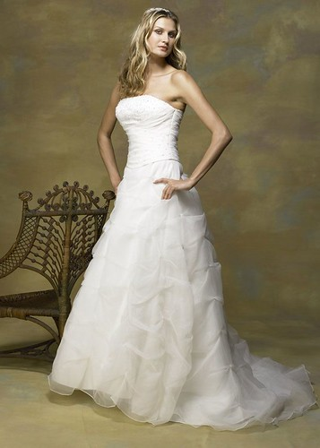 Beautiful dress for the wedding day.