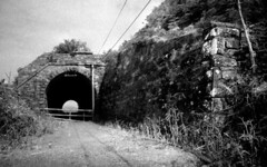 Abandoned Rail Tunnel, Drung Hill, Co Kerry, Ireland (2c..) Tags: railroad ireland summer bw film flickr 28mm railway tunnel kerry best railways nikkormat 2c nikormat abandonedrailways 72dpipreview ©lowresolutionpreview ©2c