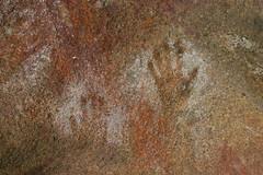 Aboriginal hand prints (Helen M Evans) Tags: australia aborigine cave westernaustralia handprints mulkascave aboriginalhandprints
