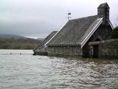 Flooded Lake House, Keswick, Cumbria, UK