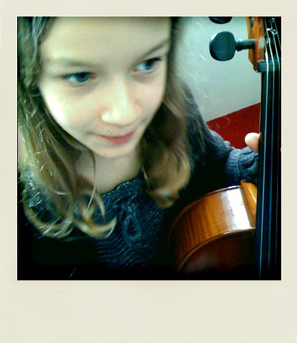 Emma on cello at the NAC