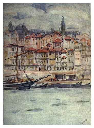029-Muelle en oporto-Portugal its land and people- Ilustraciones de S. Roope Dockery 1909
