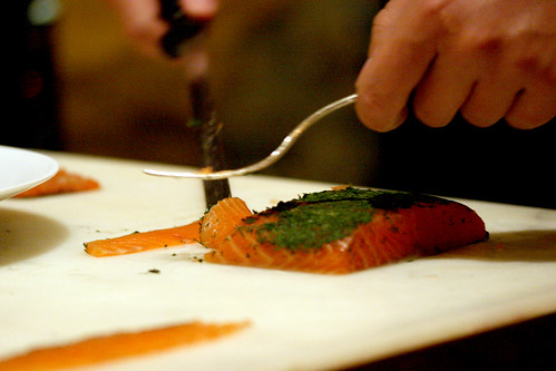 Gravadlax carving