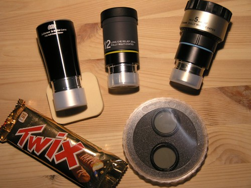 GSO 5x Barlow, 12 and 5 mm lantan eyepieces