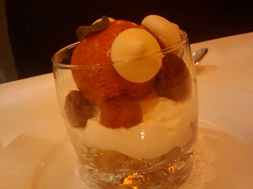 Salute-Dessert with Strawberry Gelato