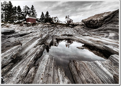 Pemaquid Light (moe chen) Tags: ocean lighthouse reflection point rocks maine sigma moe 1020mm pemaquid chen moe76
