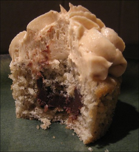 peanut butter bananacakes - inside view