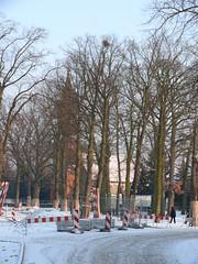 Eingefrorene Baustelle Dorfstrasse