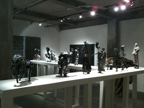 Olu Amoda sculptures at Skoto Gallery