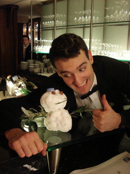 Mini snowman in Restaurant Milan