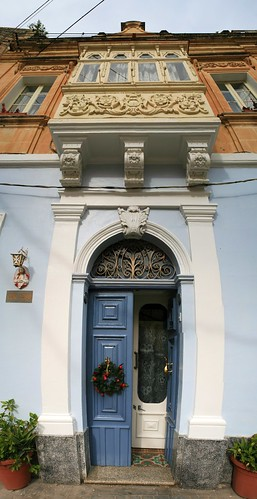 Classical Maltese door and balcony