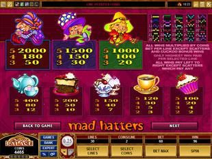 free Mad Hatters slot mini symbol
