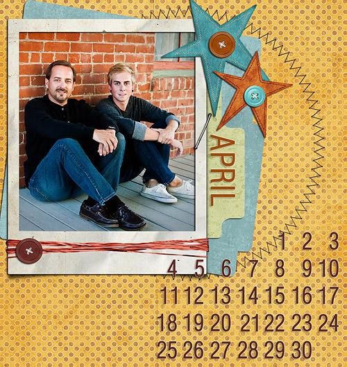 digi calendar april