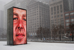 Current Conditions (pantagrapher) Tags: park winter snow chicago fountain gbrearview millennium crown chicagoist