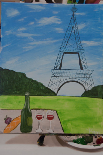 Picnic in Paris at Wine and Canvas