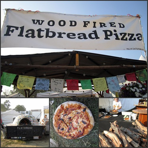 Wood-fired flatbread pizza