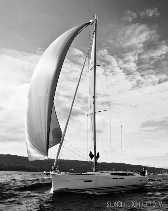 Spinnaker in b&w