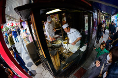 Crafty Show (H.H. Mahal Alysheba) Tags: japan tokyo people work street shop asakusa snapshot wide fisheye nikon d800 sigma 15mmf28
