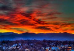 Winter Flames Over the Blue Ridge Mountains (Terry Aldhizer) Tags: winter flames clouds sunset twilight evening blue ridge mountains roanoke virginia sky terry aldhizer wwwterryaldhizercom
