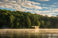 Morning wake up call - Otter Lake (John Prior 55) Tags: otterlake parrysound ontario mist forests trees cottagecountry boathouses