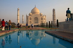 Reflections of Love - Taj Mahal of India (Chandana Witharanage) Tags: india uttarpradesh tajmahal agra wonderofwonders love monument morning lovestory romantic beautiful historic mughal travel unesco heritage marble mausoleum tourism visit world reflection architecture water