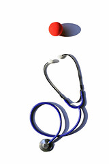 patch adams (brescia, italy) (bloodybee) Tags: 365project patchadams movie film cinema minimal minimalism clown nose stethoscope doctor medicine health stilllife white red blue shadow clowncare