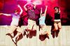 shiny jump! (Rachel-B) Tags: seattle friends washington jump jumping danny margaret wa esther 4thofjuly emp seattlecenter brittney esther17 poopoorama brittneybush nwsunshine