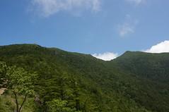 晴れ渡った山頂